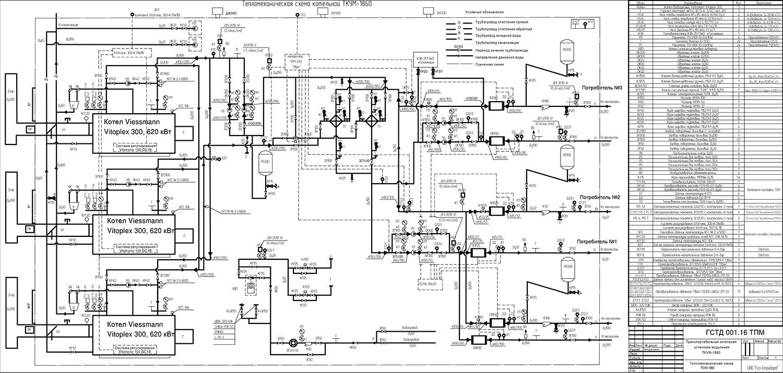 Тепловая схема котельной с паровыми котлами, чертеж | проектирование тепловых электростанций