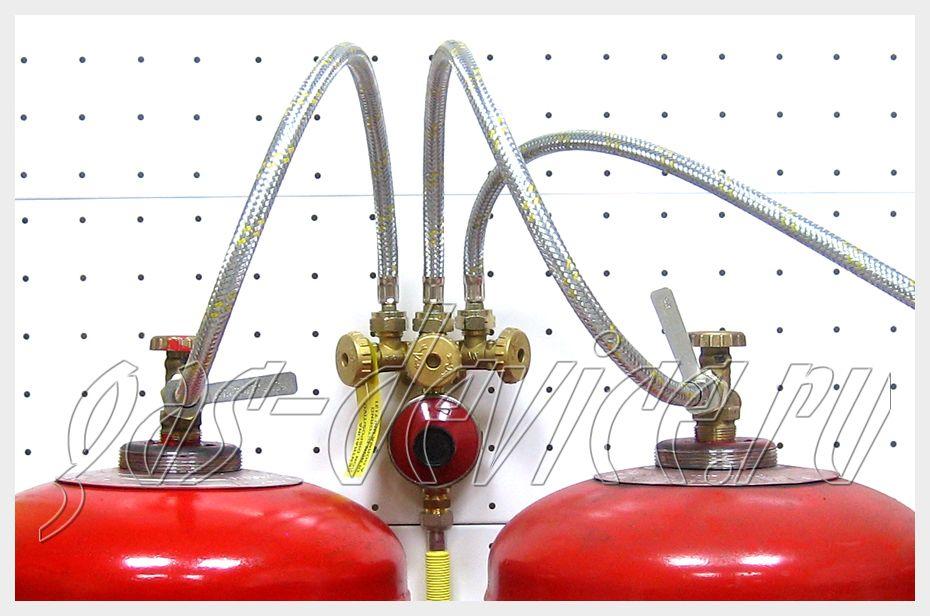 Объединение газовых баллонов с помощью газовой рампы