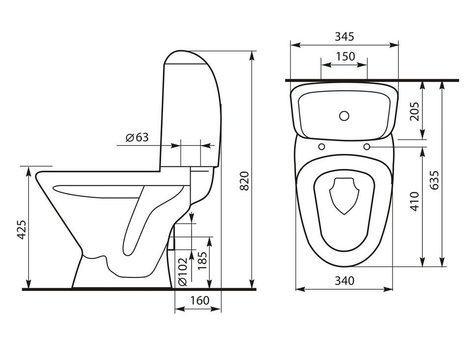 Размеры сиденья для унитаза: как измерить и подобрать?
