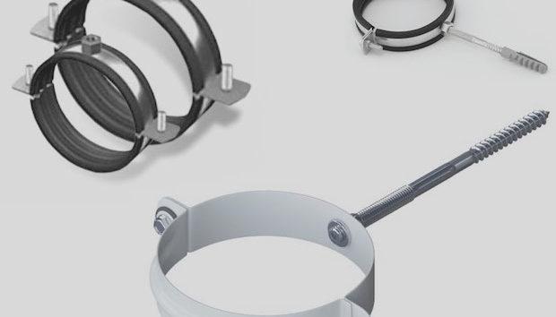 Хомут трубный – как надежно зафиксировать трубопровод на стене? + видео