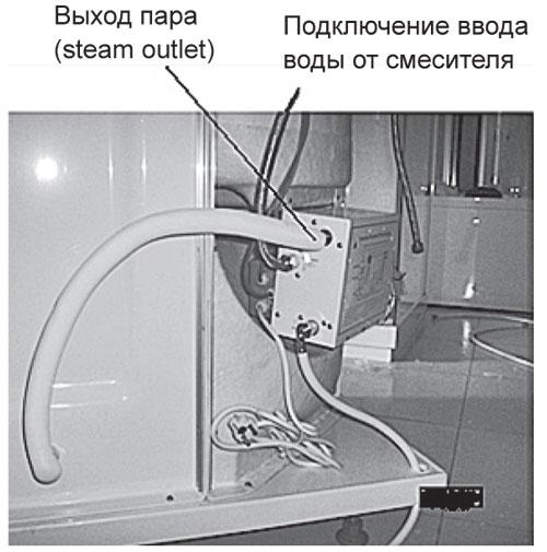 Установка парогенератора душевой кабины своими руками