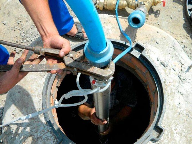 Замена насоса в скважине на воду глубинного эцв