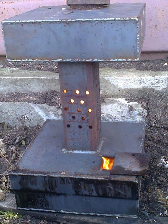 Капельная печь: на отработке своими руками, чертежи, варианты