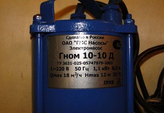 Как выбрать дренажный погружной насос для грязной воды гном и его принцип работы