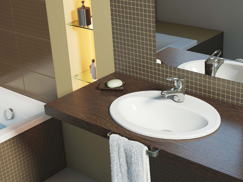 Столешница для ванной комнаты под раковину: виды, как выбрать и правильно установить