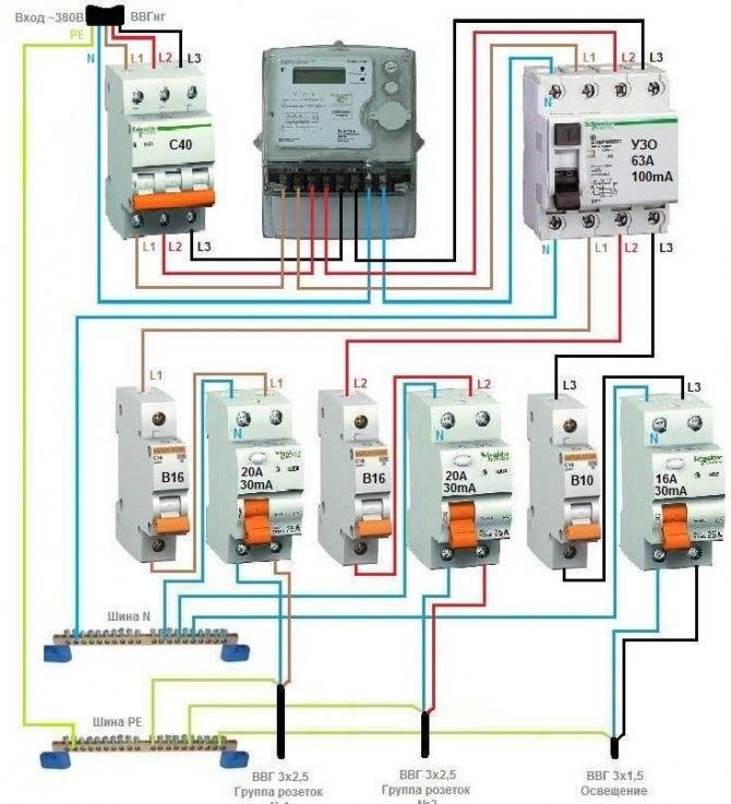 Подключение дифавтомата в однофазной сети: схемы с заземление и без, рекомендации специалистов