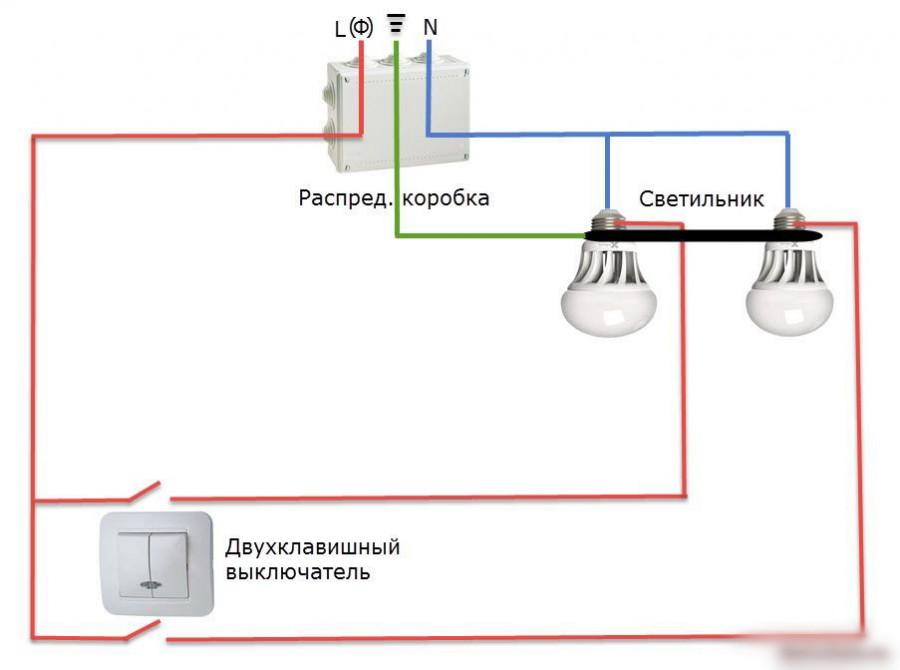 Подключение двухклавишного выключателя своими руками, сехма, видео – tokzamer.ru