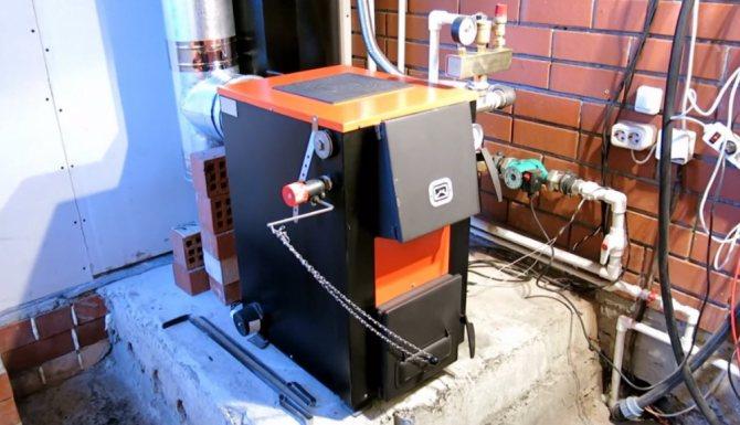 Установка котла на твердом топливе — разбор нюансов монтажа