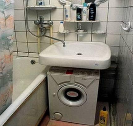 Установка раковины над стиральной машиной в ванной комнате: монтаж своими руками