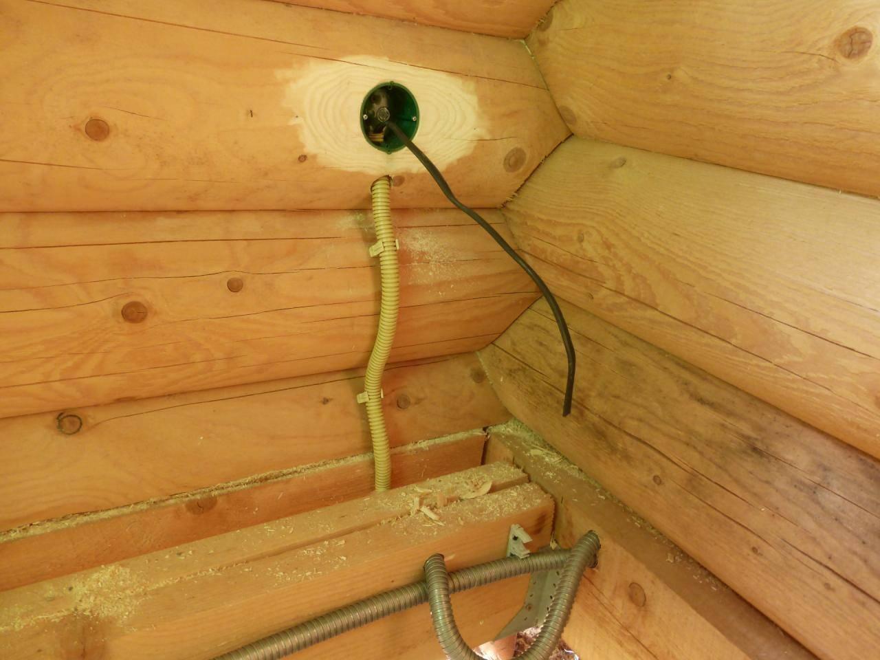 Электрика в деревянном доме: схемы + монтажные инструкции
