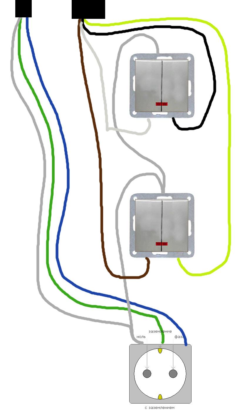 Розетка с выключателем в одном корпусе — как подключить розетку с выключателем