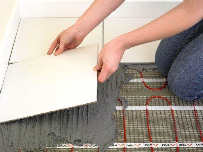 Как уложить теплый пол под плитку своими руками