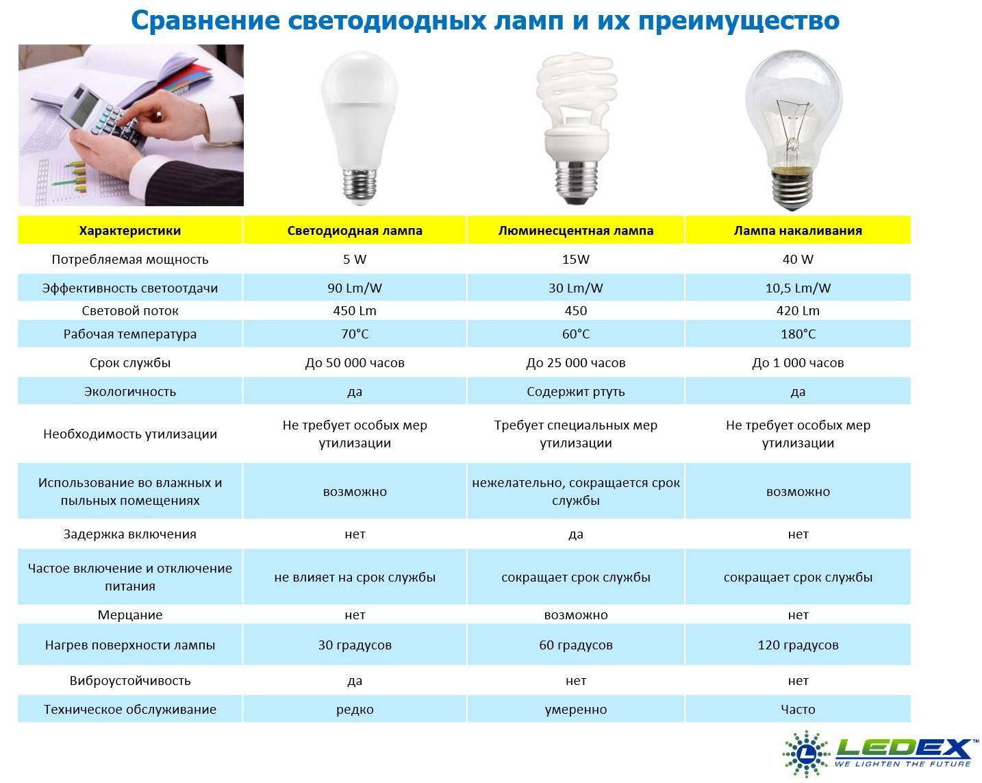 Виды энергосберегающих ламп и их цоколей - светодиодные и другие, цена
