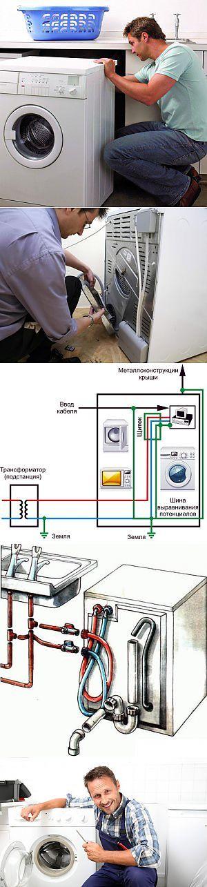 Подключение стиральной машины к электросети своими руками: инструкция