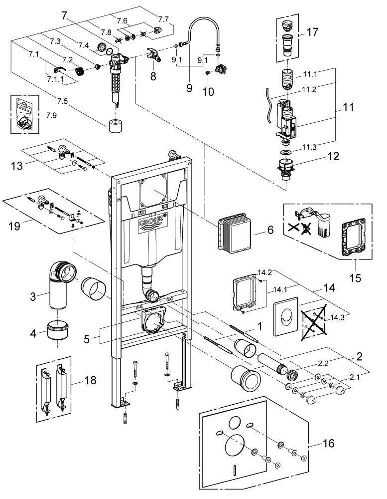 Как снять и отремонтировать кнопку для инсталляции