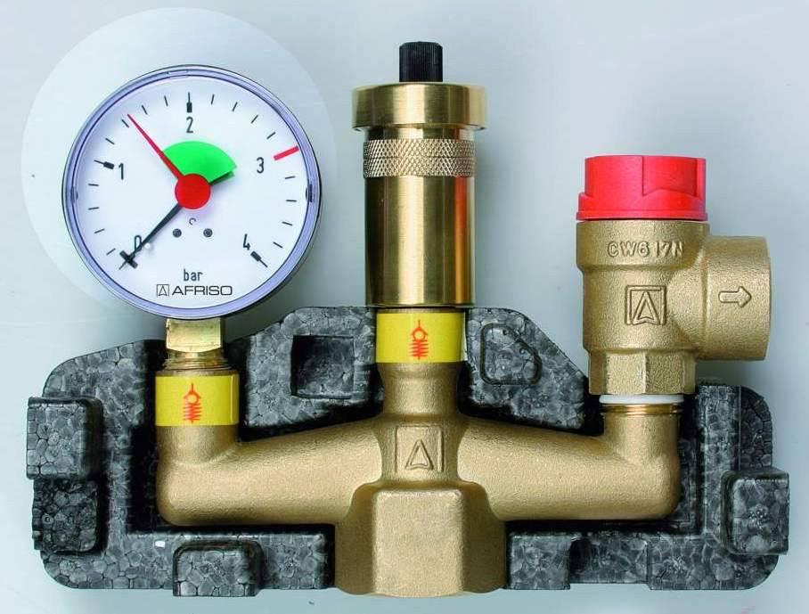 Группа безопасности для отопления с расширительным баком: устройство блока, установка своими руками