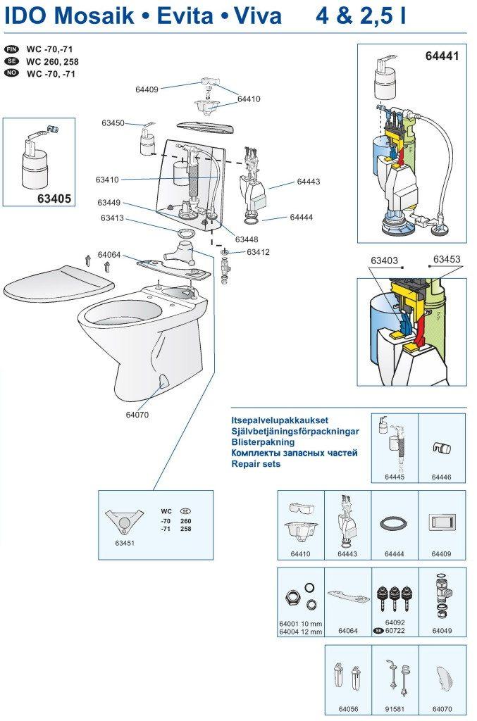 Установка унитаза своими руками: монтаж в ванной на кафельный пол (+ видео)