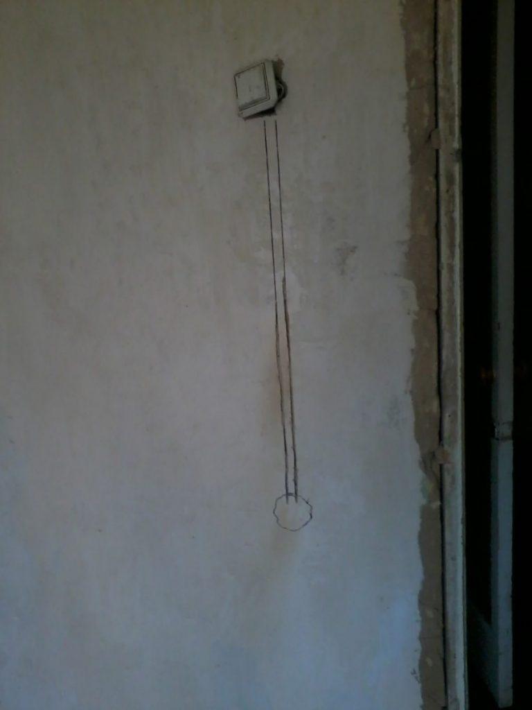 Как перенести выключатель света в другое место - перенос выключателя