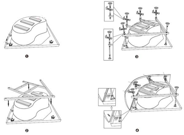 Установка поддона душевой кабины: монтажные инструкции