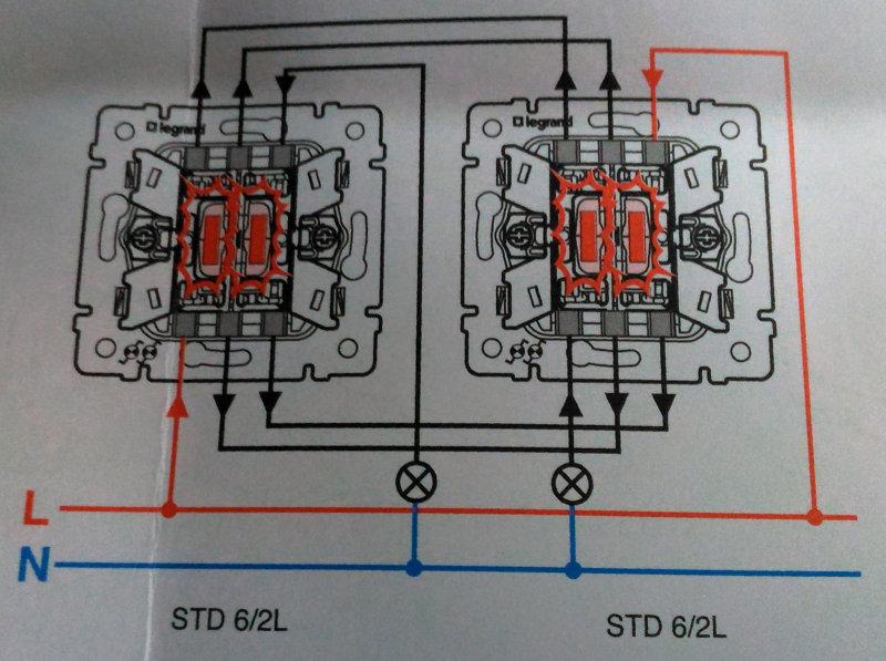 Проходной выключатель: назначение, схема и видео подключения двухклавишного устройства