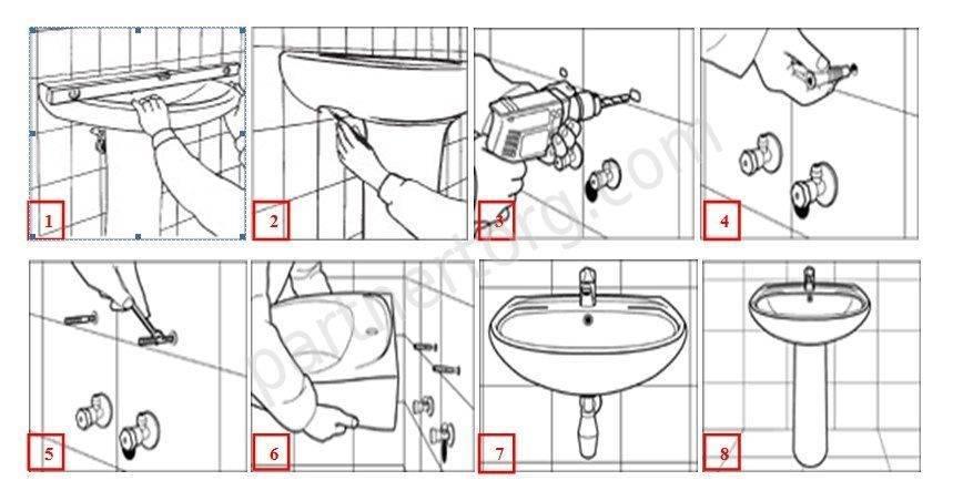 Как установить раковину тюльпан своими силами: поэтапный инструктаж