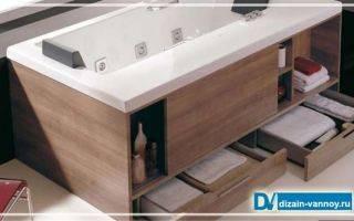 Как сделать функциональный экран под ванной с полками