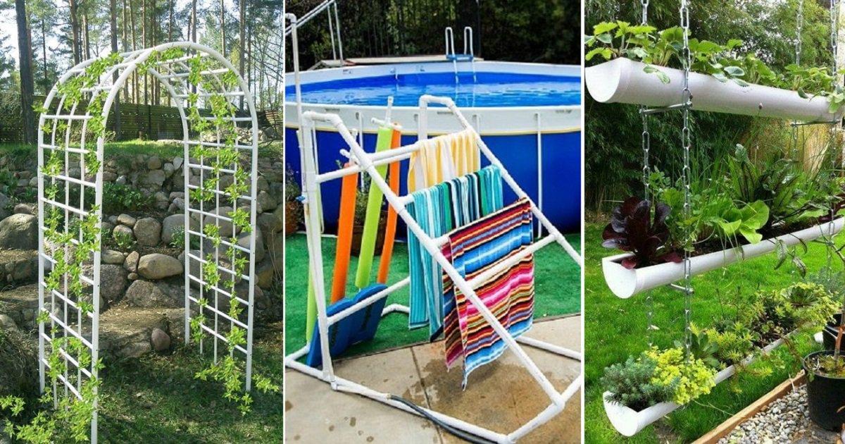 22 идеи поделок из пластиковых труб своими руками для дачи и дома + фото