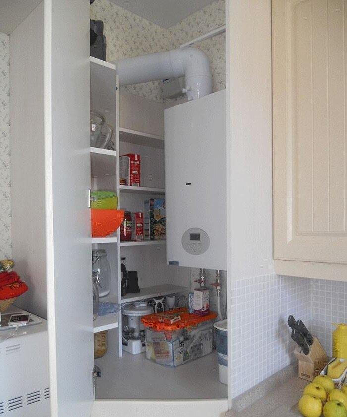 Как спрятать газовый счетчик на кухне: нормы и требования + популярные способы маскировки