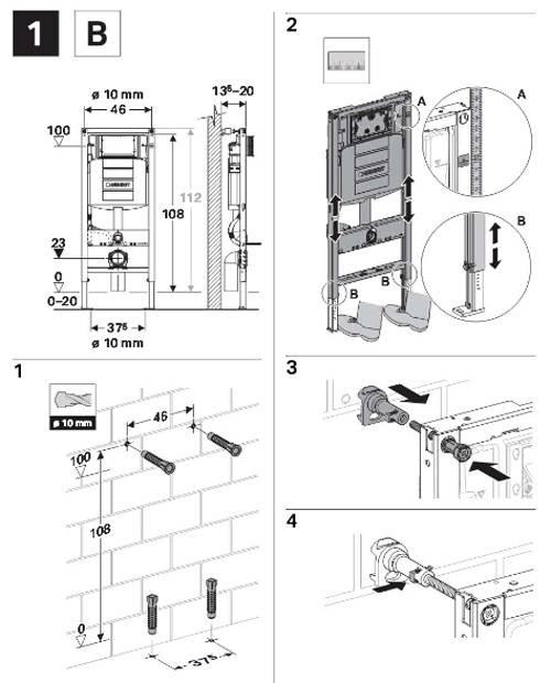 Монтаж подвесного и напольного унитаза с инсталляцией: схема установки