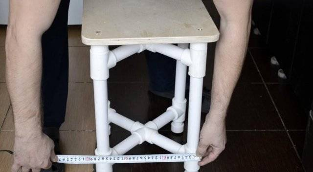 Мебель из труб пвх своими руками, этапы создания и декорирование