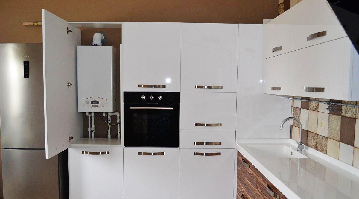 Дизайн кухни с газовым котлом: установка, дизайн - 75 фото
