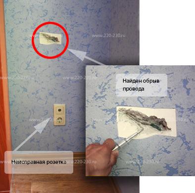 Поиск обрыва проводки в стене - всё о электрике в доме