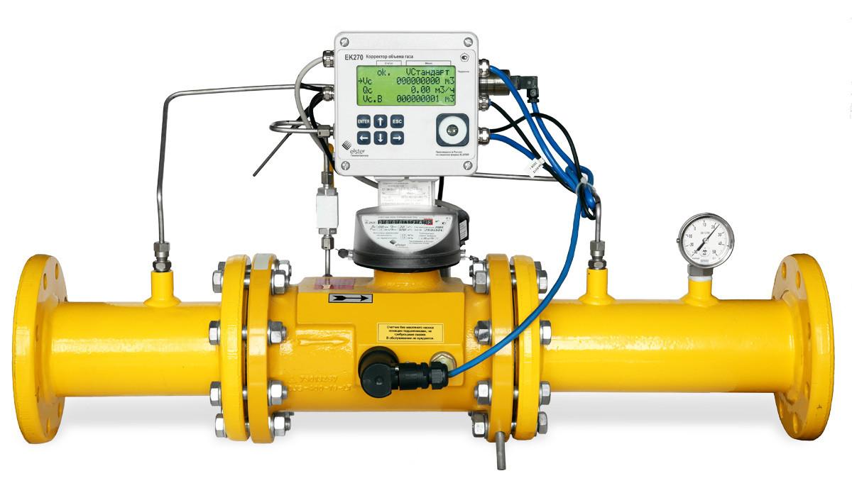 Корректор объема газа установка