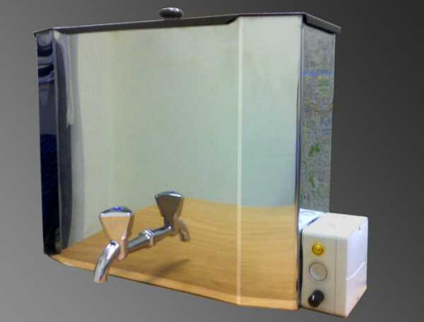 Умывальник с подогревом воды для дачи, рукомойник с водонагревателем