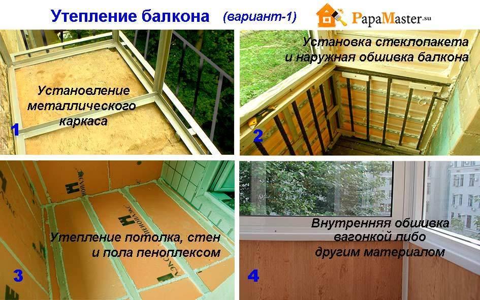 Как утеплить балкон? 84 фото: утепление изнутри своими руками, пошаговая инструкция