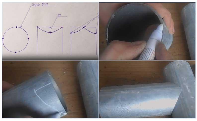 Как и чем отрезать трубу: ровно под 90°, под углом 45°