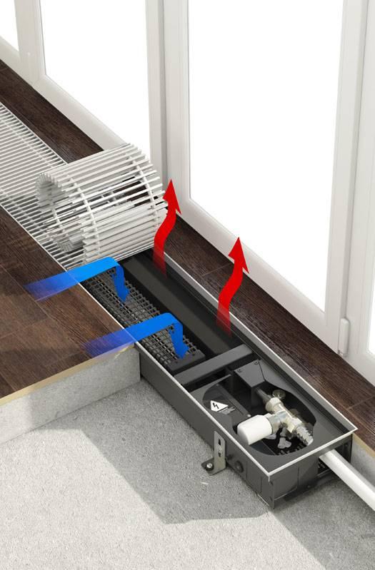Как выбрать внутрипольный конвектор отопления