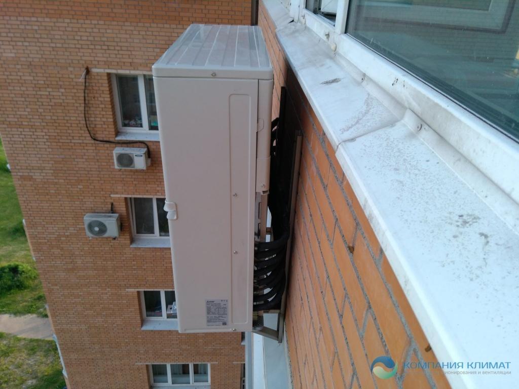 Кондиционер на балконе: можно ли ставить и установка внешнего и внутреннего блока