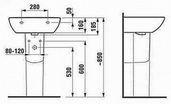 Как установить раковину в ванной с пьедесталом: особенности раковины на пьедестале