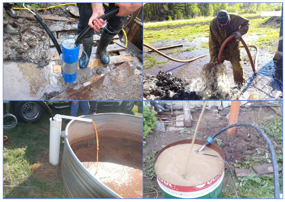 Промывка скважины после бурения: годные методы + как провести работы своими руками - точка j