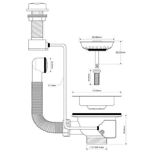 Подключение к канализации раковины