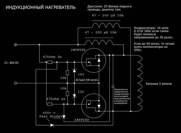 Индукционный нагреватель 4квт своими руками