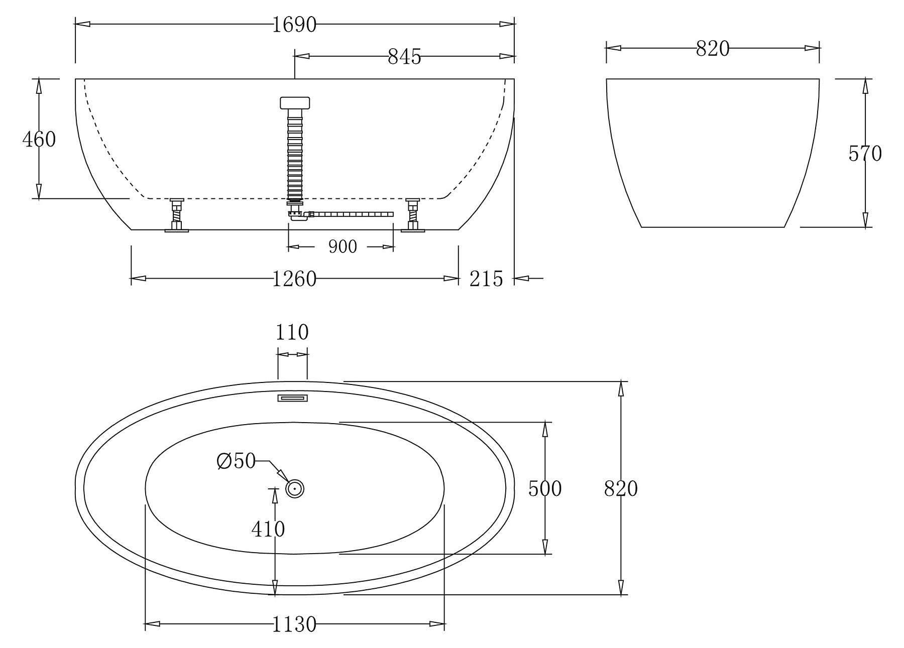 Размеры ванн (стальных, акриловых, чугунных) всех форм