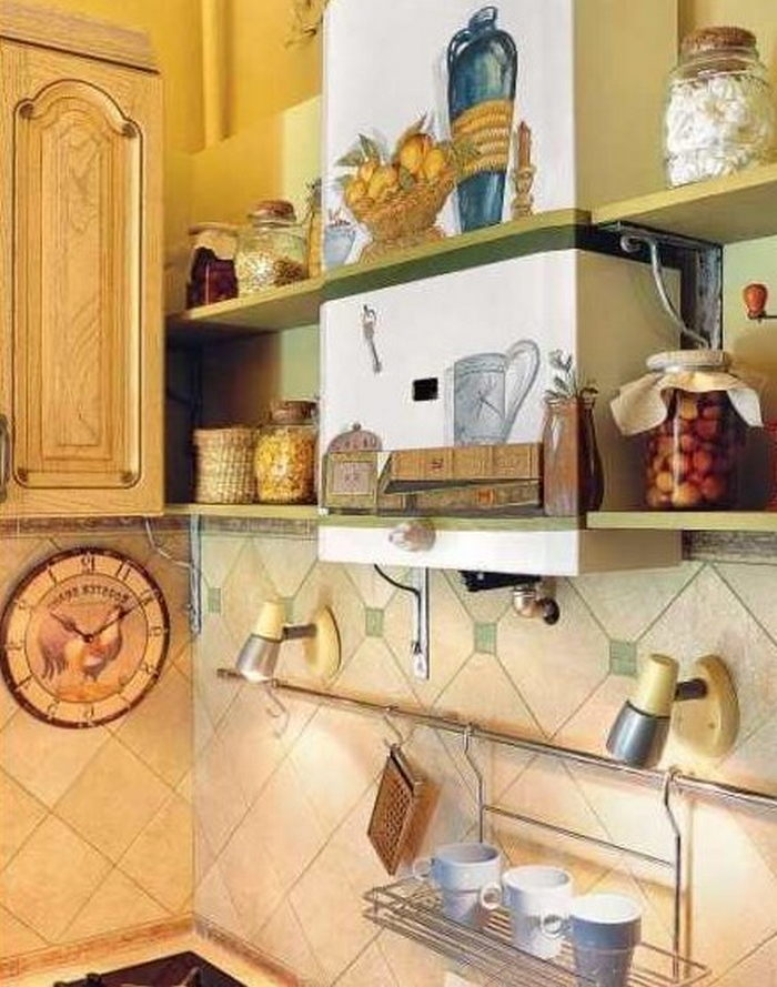 Как спрятать газовую трубу на кухне: способы маскировки и правила устройства короба