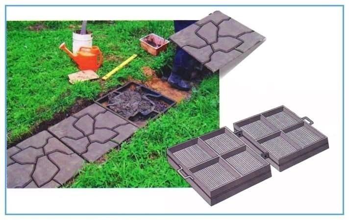 Формы для тротуарной плитки: разновидности исходного сырья и рекомендации по изготовлению