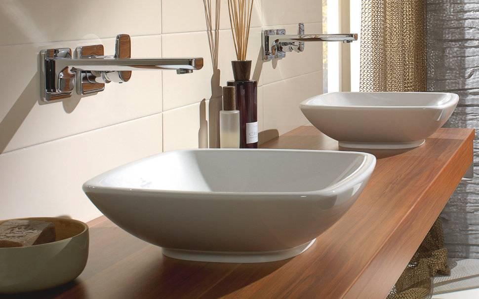 Накладная раковина на столешницу для ванной комнаты: виды, монтажные инструкции