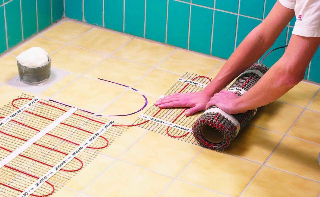 Какой теплый пол лучше класть под плитку