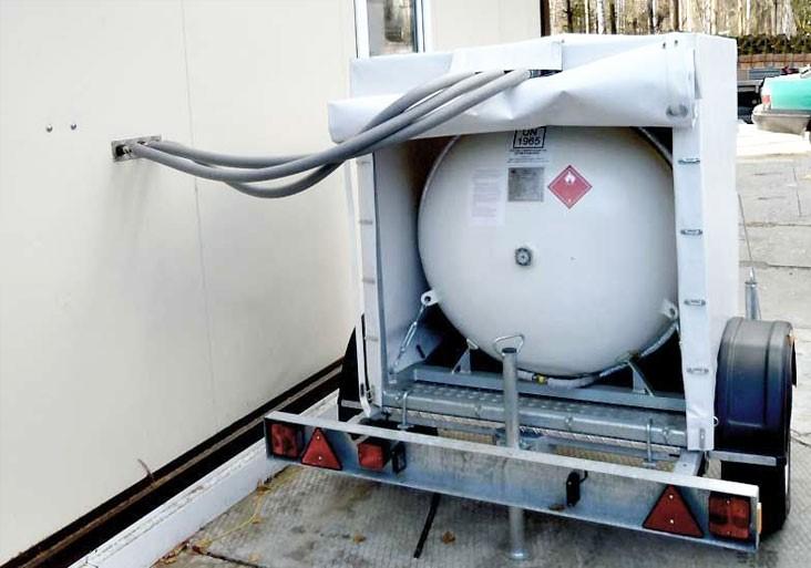 Мобильный газгольдер: передвижная емкость на прицепе для хранения газа - точка j