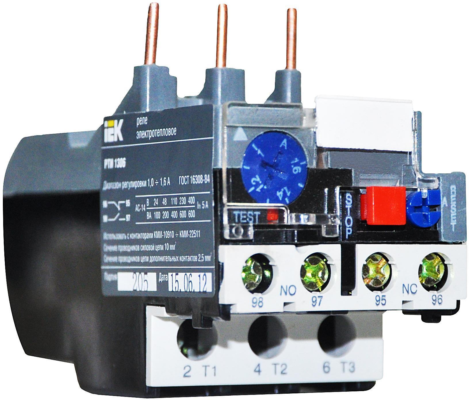 Принцип работы и подключение теплового реле для электродвигателя
