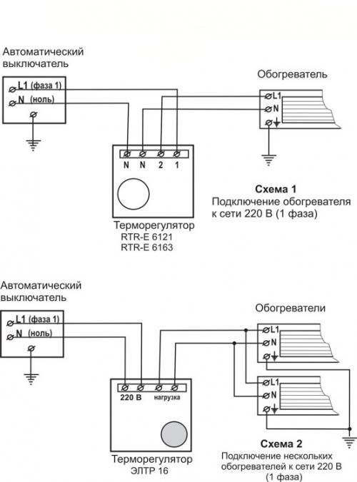 Терморегулятор для инфракрасного обогревателя – выбор, подключение